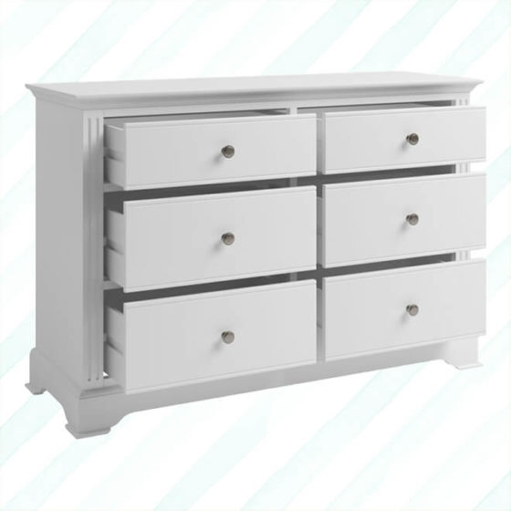 Brescia 6 Drawer Chest White