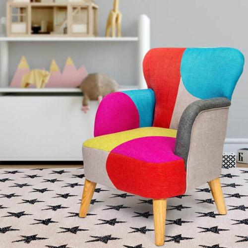Lorcan Kids Patchwork Chair