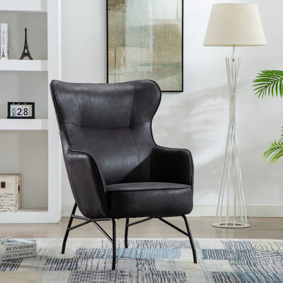 Perry Black Armchair